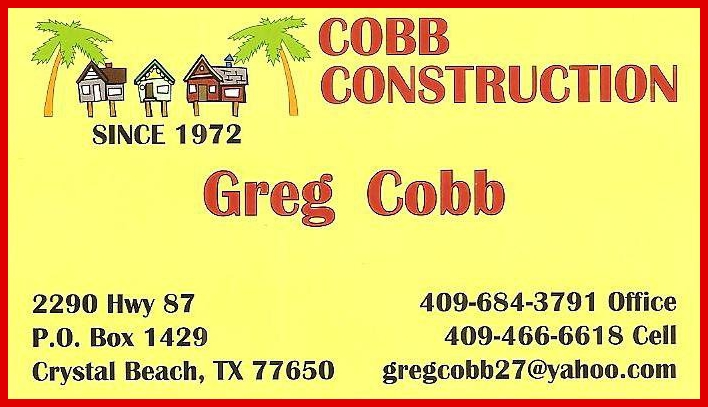 Cobb Construction, Crystal Beach Texas